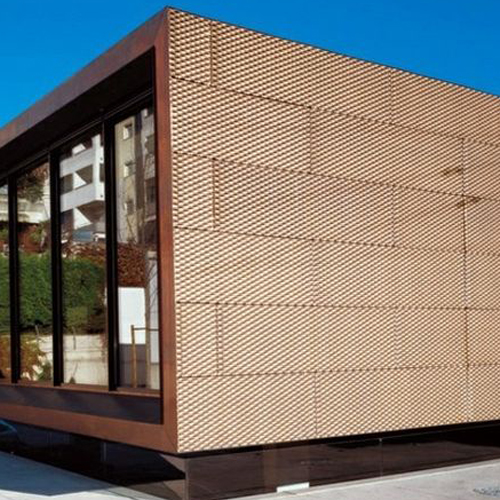 Red copper engraving curtain wall